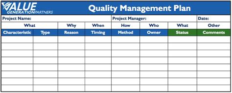 10 Quality Management Plan Exles Pdf Qa Qc Program Template