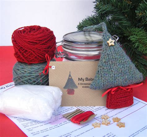 Tree Decoration Kits by Tree Decoration Knitting Kit By Baboo