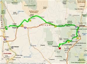road map of nevada and arizona day 2 laughlin nevada to prescott arizona 290
