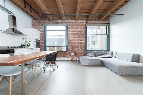 architectures modern loft with industrial bricks element modern industrial vancouver apartment in wood concrete
