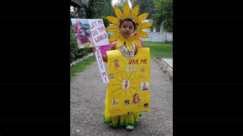 themes on save girl child save girl child fancy dress competition youtube