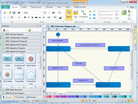 software uml diagram uml statechart diagrams free exles and software