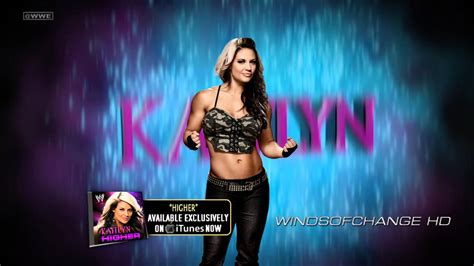 wwe theme songs kaitlyn wwe kaitlyn 5th theme song quot higher quot hd download youtube