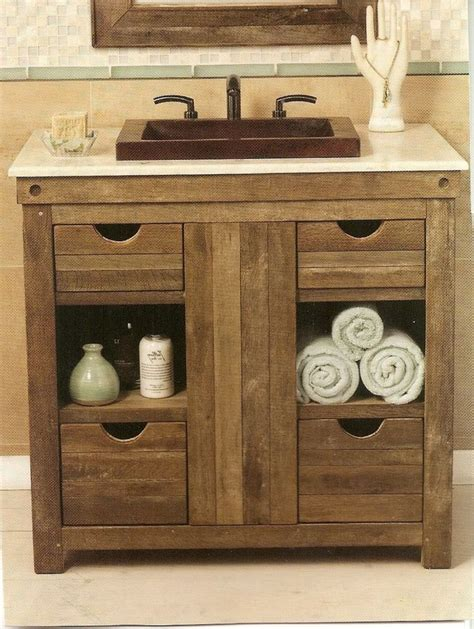 Rustic Bathroom Vanity 25 Best Ideas About Rustic Bathroom Vanities On Pinterest Small Rustic Bathrooms Small