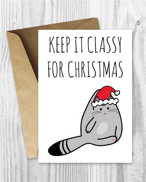 printable christmas cards cats printable holiday cards keep it classy for christmas cat