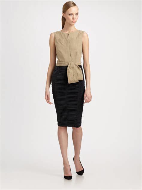 Dress Hodie New York donna karan new york bicolor dress in black coal lyst