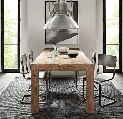restoration hardware table wood