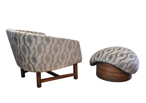 Reading Chair With Ottoman Mid Century Modern Reading Chair And Ottoman For Sale At 1stdibs