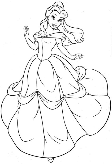 Coloring Pages Of Disney Princess Belle | free printable belle coloring pages for kids