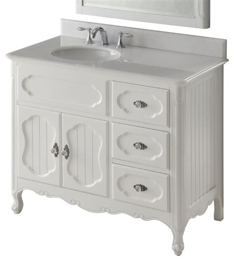 White Cottage Bathroom Vanity by 42 Quot Cottage Style White Knoxville Bathroom Sink