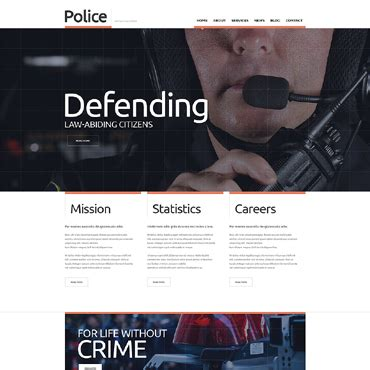 templates for police website police website templates