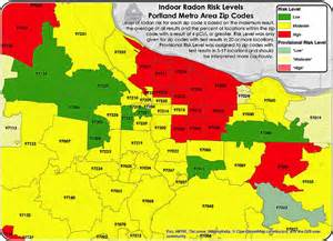 map of portland oregon zip codes portland oregon radon by zip code map