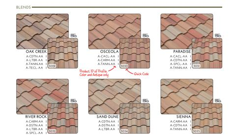 Roof Tile Colors Concrete Roof Tile Roof Tile