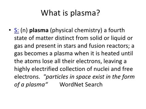 simple definition of matter plasma the 4th state of matter