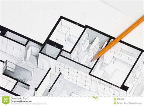 isometric floor plan sharp orange glazed regular pencil on isometric floor plan