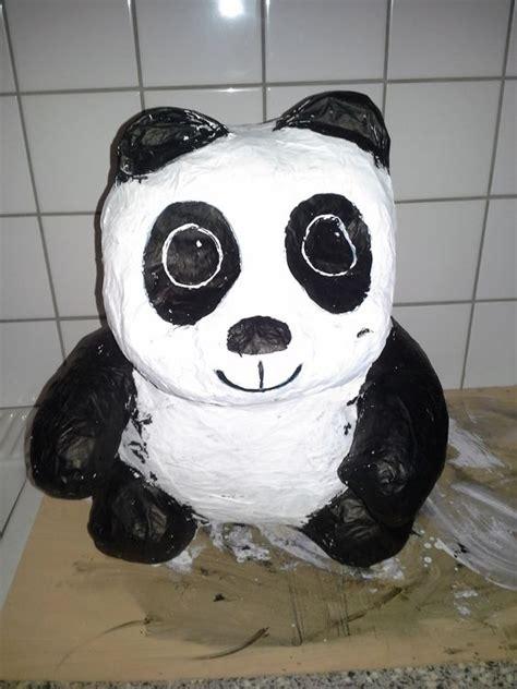 How To Make A Paper Mache Panda - sint suprise panda gemaakt papier mache