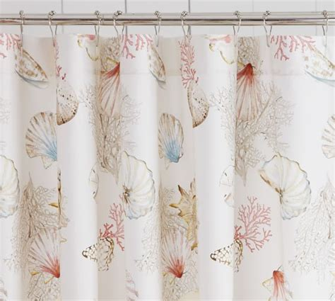 seashore themed shower curtains seashore shower curtain pottery barn