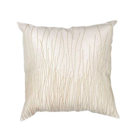Ivory Decorative Pillows by Kas Rugs Modern Weave Ivory Decorative Pillow Pill18818sq