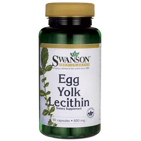 supplement lecithin swanson premium egg yolk lecithin 60 caps swanson health