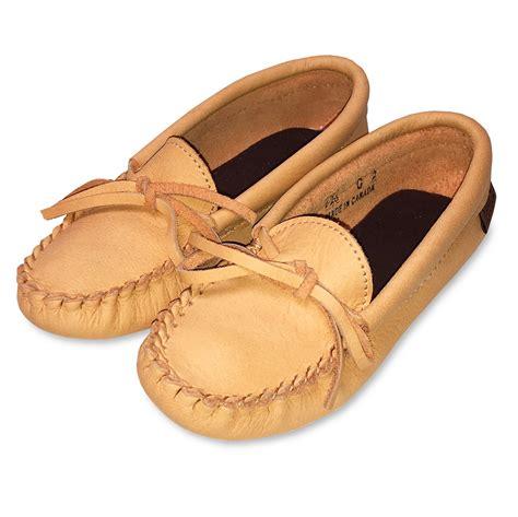moosehide slippers junior moosehide leather moccasin slippers 126