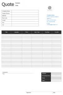 Quote Templates Free by Doc 460595 Quotation Form Price Quotation Format