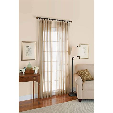 better home curtains better homes and gardens canopy crushed voile drapery