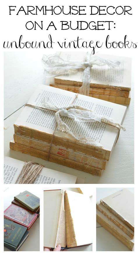 farmhouse decor on a budget diy unbound vintage books