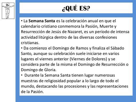 Q Significa El Calendario El Significado De La Semana Santa
