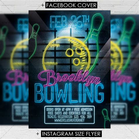 premium flyer templates bowling premium flyer template exclsiveflyer free