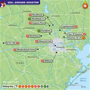 houston golf map houston golf map usa top 100 golf courses and resorts