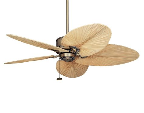 tropical ceiling fan blades 52 quot antique brass maubay indoor ceiling fan w tropical