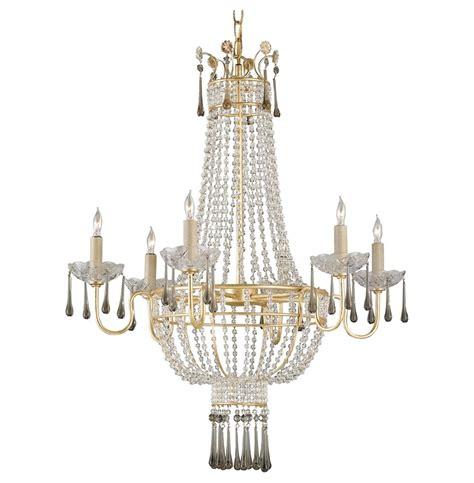 Regency Chandelier Raines Regency Gold 6 Light Chandelier Kathy Kuo Home