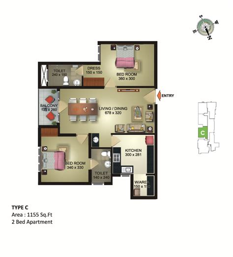 odyssey floor plan luxury flats in vattiyoorkavu 4 bhk apartments near bypass