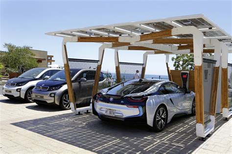 Solar Car Port by Bmw Solar Charging Carport Concept Is Stunning Functional
