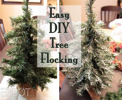 easy diy tree wreath flocking christmas crafting
