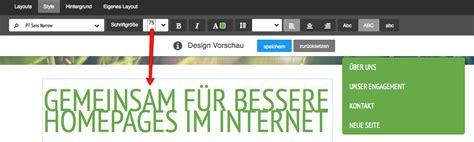 layout jimdo html jimdo update neue benutzeroberfl 228 che und style opitionen