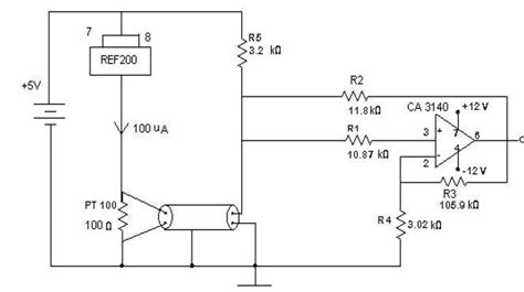 pt100 temperature sensor circuit diagram pt100 temperature sensor circuit diagram circuit and