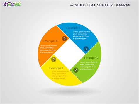 4 sided shutter diagram for powerpoint