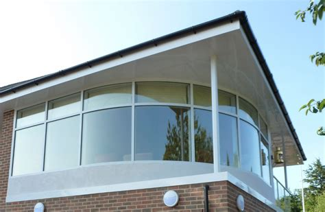 curved windows curved glass balcony systems