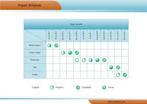 schedule matrix template matrix diagram exles