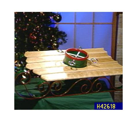 decorative tree stand santa s magical sled decorative tree stand qvc