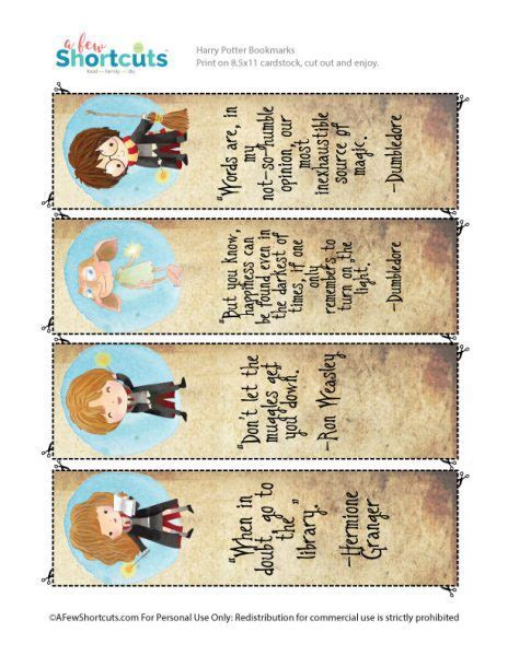 card template hermine free harry potter printable bookmarks a few shortcuts