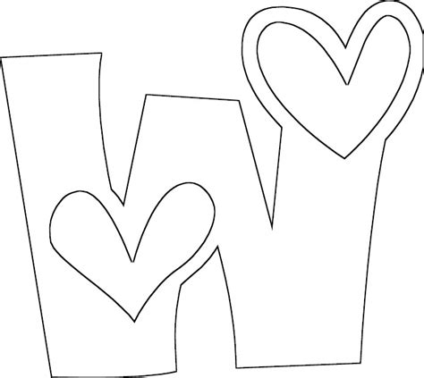 coloring page of letter w full letter w coloring page