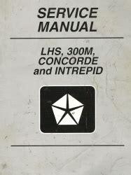 free service manuals online 1999 chrysler 300m on board diagnostic system 1999 chrysler concorde 300m and dodge intrepid service manual