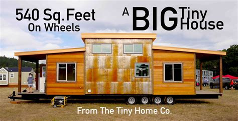 tiny house square the quot big quot tiny house 540 square four axles