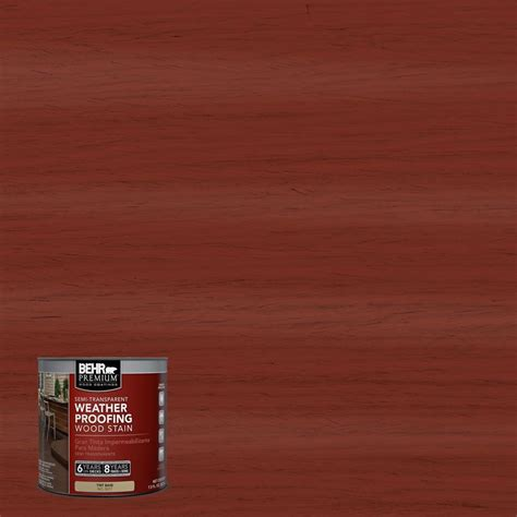 behr premium 8 oz st330 redwood semi transparent weatherproofing wood stain sle 507716