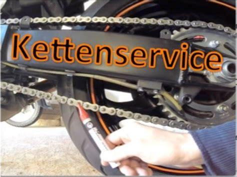 Kettenspannung Am Motorrad Pr Fen by Motorrad Kette 252 Berpr 252 Fen Und Nachstellen Chain Service
