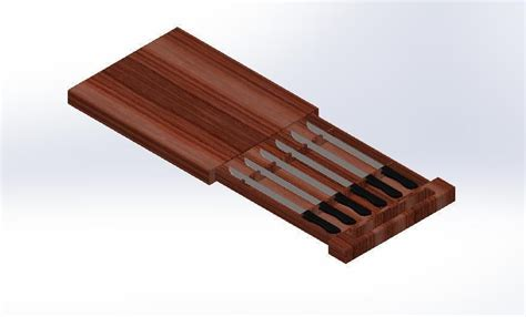 Cutting Board With Drawer by Cutting Board With Knife Drawer Free 3d Model Cgtrader