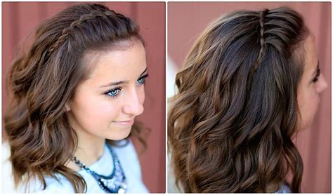 diy hairstyles cgh diy faux waterfall headband hair pinterest hair