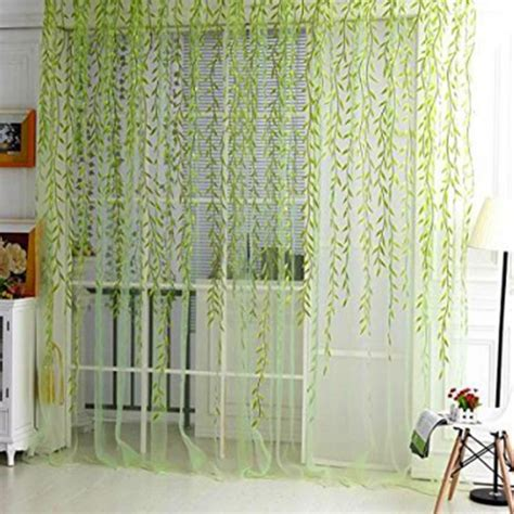 tree drapes 1piece home textile tree willow curtains blinds voile